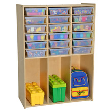 Contender 18 Translucent Tray Storage with Cubbies - Assembled