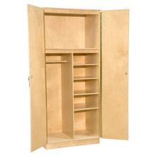 Contender Mobile Three Adjustable Shelf Wardrobe - Assembled