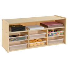 Contender 6 Translucent Bin and Shelf Organizer- Assembled