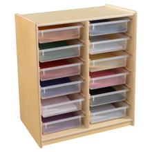 "(12) 3"" Letter Tray Glide Storage without Trays"