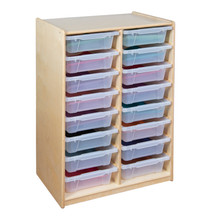"""(16) 3"""" Letter Tray Glide Storage without Trays"""