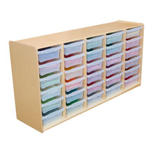"""(30) 3"""" Letter Tray Glide Storage without Trays"""