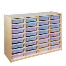 """(32) 3"""" Letter Tray Glide Storage without Trays"""