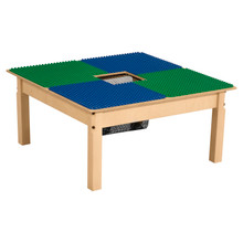 Time-2-Play Blue and Green Duplo Compatible Table - Square