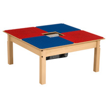 Time-2-Play Blue and Red Duplo Compatible Table - Square