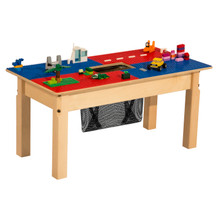 Time-2-Play Blue and Red Lego Compatible Table - Rectangle