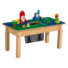 Time-2-Play Blue and Green Duplo Compatible Table - Rectangle