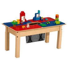 Time-2-Play Blue and Red Duplo Compatible Table - Rectangle