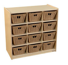 WD16129-718 (12) Cubby Storage with Baskets