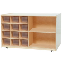 WD16501 12 Clear Trays Plus Shelving Storage