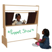 WD21651BN Markerboard Puppet Theater w/Brown Curtains