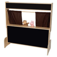 WD21652BN Flannelboard Puppet Theater w/Brown Curtains