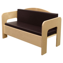 WD31600BN Sofa w/Brown Cushion