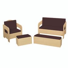 WD31680BN Children's Furniture Set of 4 w/Brown Cushions
