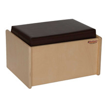 WD31700BN Single Bench w/Brown Cushion