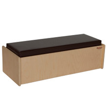 WD31800BN Double Bench w/Brown Cushion