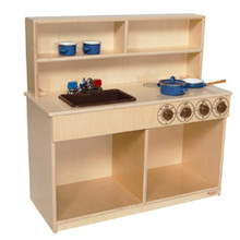 WD40800BN Tot 3-N-1 Kitchen w/Brown Tray and Knobs