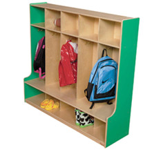 "WD51054G Green Apple™ 5 Section Offset Locker, 54""W"