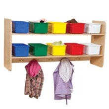 WD51403 Wall Hanging Storage with (10) Assorted Trays