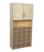 WD56201 20 Tray Vertical Storage Cabinet w/Translucent Trays