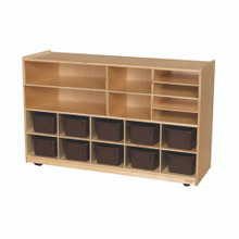 WD62902 Versatile Storage with 10 Brown Trays