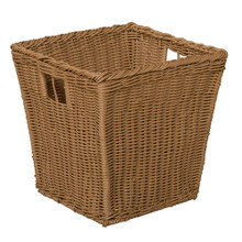 Medium Plastic Wicker Basket