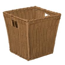 Medium Plastic Wicker Basket