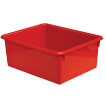 "WD78004 5"" Rectangular Letter Trays - Red"