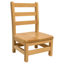 "Hardwood Ladderback 10"" Chair"