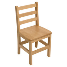 "Hardwood Ladderback 18"" Chair"