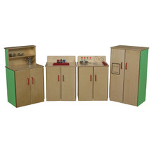 WD10002G Set of (4) Green Apple™ Classic Appliances with Deluxe Hutch