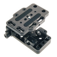 "DSLR BASEPLATE ASSY W/ SGL QUAD & CROSS CLAMP-2.0"" RISER"