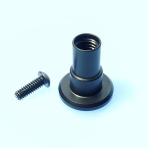Rosette post with fastener.