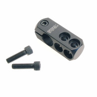 ACCESSORY MOUNT BLOCK, DUAL FASTENER MOUNT W/SCREW