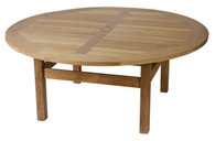 Teak 160cm Chunky Round Table. 40mm thick table top.