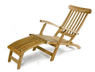 Teak steamer chair.