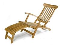 Teak steamer chair.