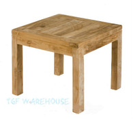 Teak Square fixed 45cm x 45cm coffee table