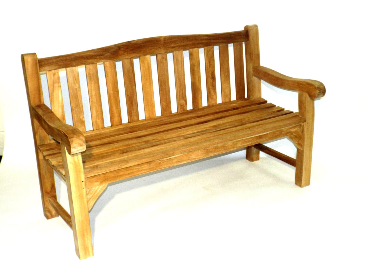 Teak Heavy Duty Arch Back Park Bench 150cm