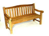 Teak Heavy Duty Arch back Bench 150cm