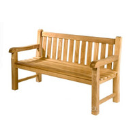 teak Heavy Duty Straight back Bench 120cm