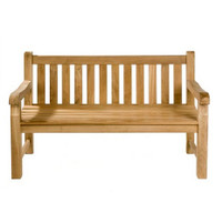 teak Heavy Duty Straight back Bench 150cm