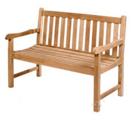 Straight back bench 120cm wide