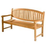 Oval back bench 120cm wide
