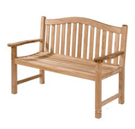 Oval back bench 150cm wide