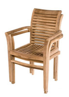 teak Stacking Chair shown stacked