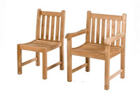 Fixed Straight Back side chair can be matched with an Straight back carver chair.