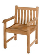 Fixed Straight Back Carver Chair