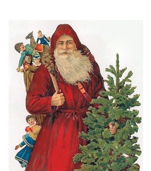 Victorian Red Clothed Father Christmas