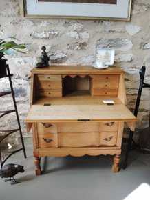 Vintage Danish Writing Bureau in French Oak